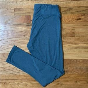 LuLaRoe Tall and Curvy Blue Leggings